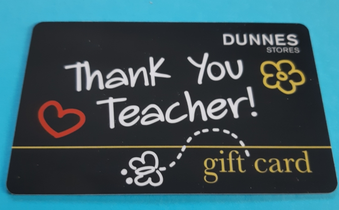 Thank you teacher gift card